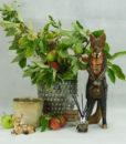 Mett-mari-raev-fox-gul-potte-blomster-flower-raadyr-bambi-hjort-apotekerglas-duftspreder-duft-prikket-urtepotte-370x436