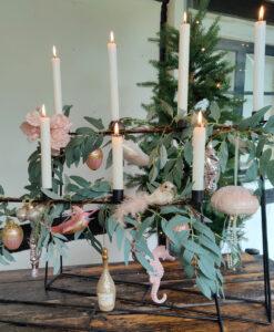 Jule pyntepakke i lyserød